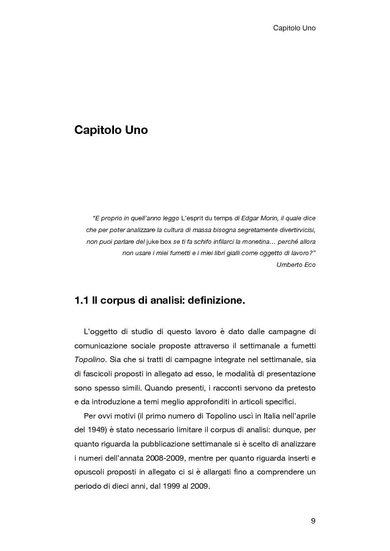 Anteprima della tesi: Le campagne di comunicazione sociale su Topolino: analisi di caso e valutazione dell'efficacia, Pagina 5