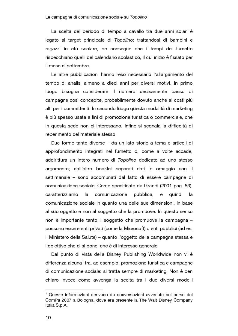 Anteprima della tesi: Le campagne di comunicazione sociale su Topolino: analisi di caso e valutazione dell'efficacia, Pagina 6
