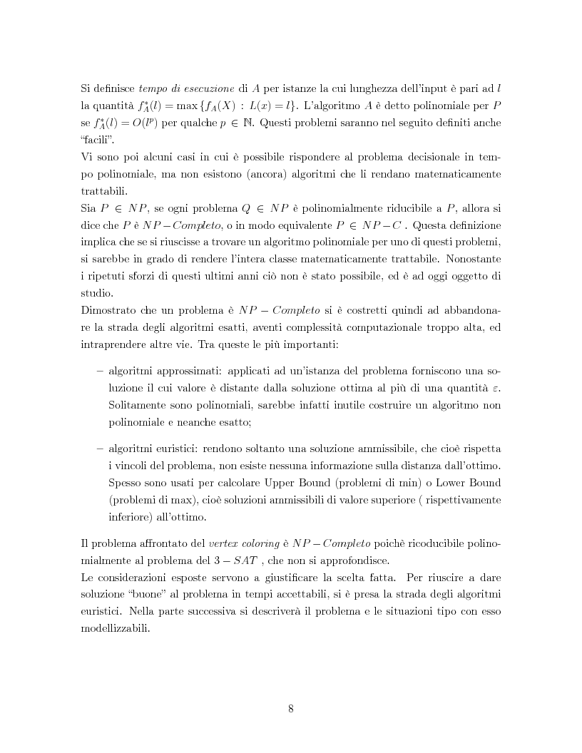 Anteprima della tesi: Un algoritmo euristico per il problema del vertex coloring, Pagina 4