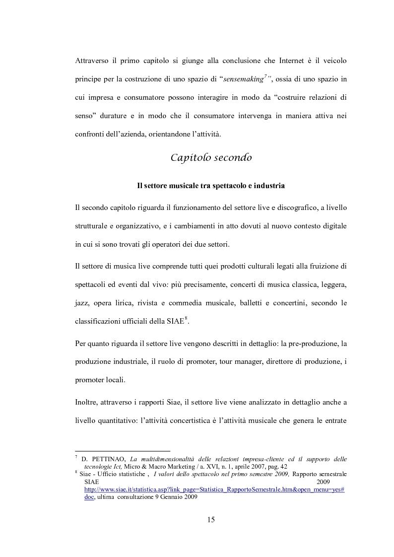 Anteprima della tesi: L'impatto delle nuove tecnologie sul mercato musicale: un confronto tra settore live e discografia, Pagina 5