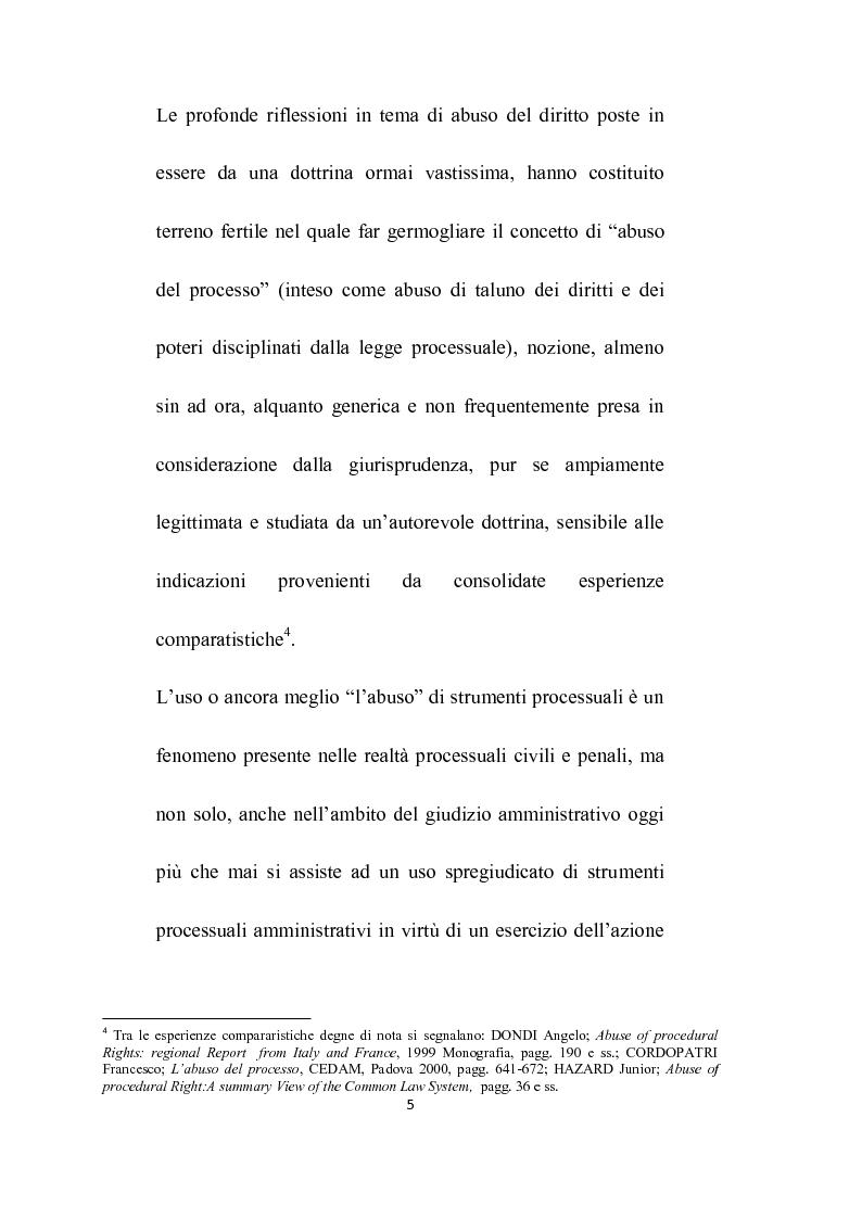 Anteprima della tesi: Abuso del processo amministrativo, Pagina 3