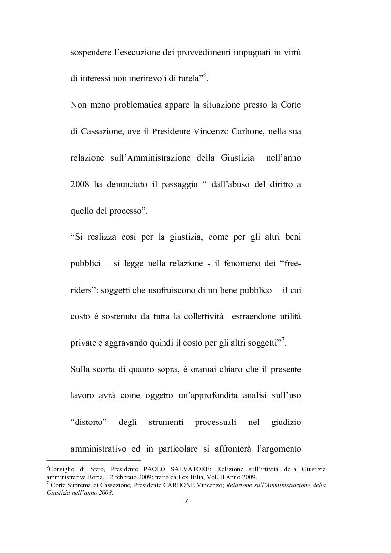 Anteprima della tesi: Abuso del processo amministrativo, Pagina 5