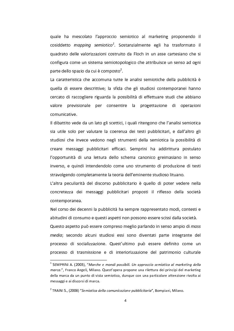 Anteprima della tesi: Semiotica a quattro ruote. Spazialità e valorizzazioni negli spot delle automobili., Pagina 2