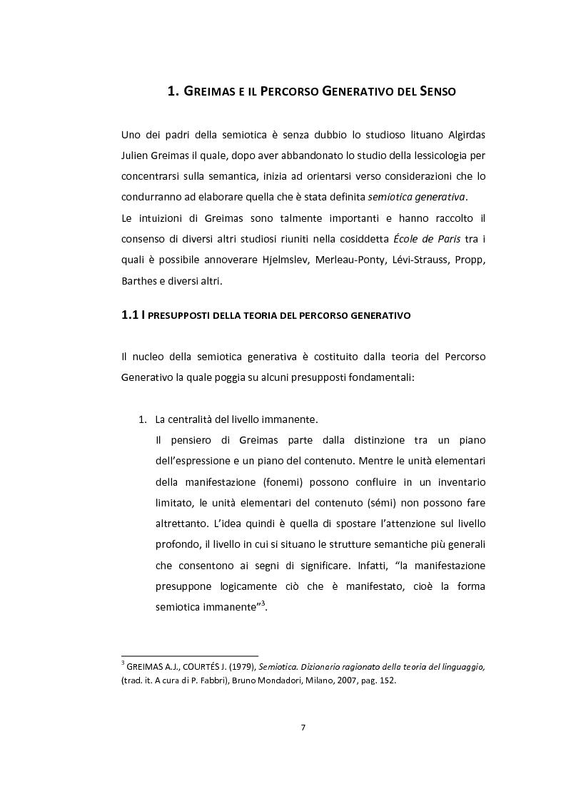Anteprima della tesi: Semiotica a quattro ruote. Spazialità e valorizzazioni negli spot delle automobili., Pagina 5