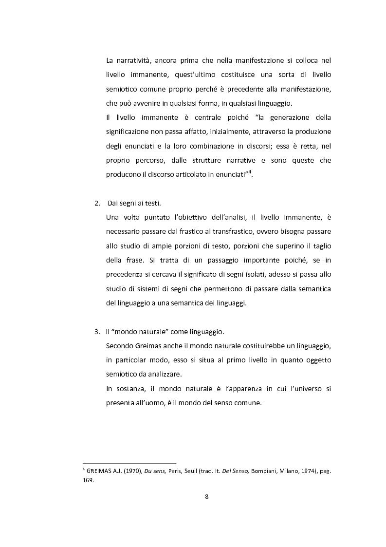 Anteprima della tesi: Semiotica a quattro ruote. Spazialità e valorizzazioni negli spot delle automobili., Pagina 6