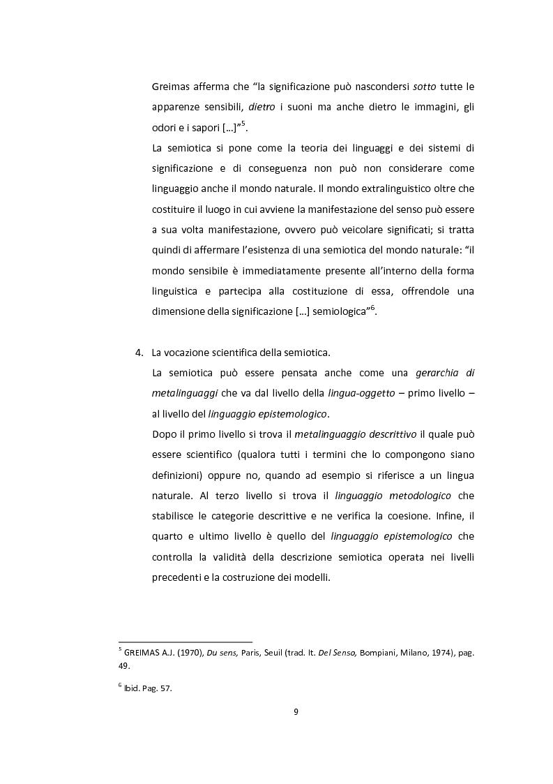 Anteprima della tesi: Semiotica a quattro ruote. Spazialità e valorizzazioni negli spot delle automobili., Pagina 7