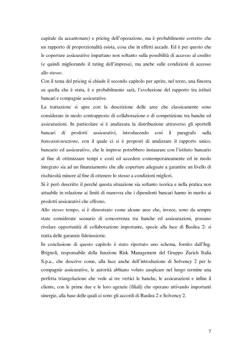 Anteprima della tesi: L'accesso al credito per le imprese assicurate, Pagina 3