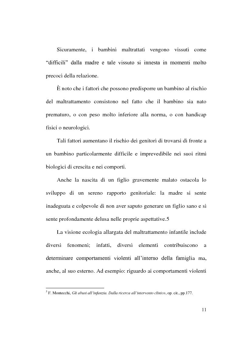 Anteprima della tesi: Maltrattamento e abuso sui minori, Pagina 11