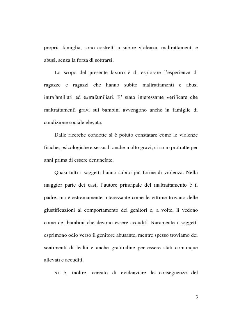 Anteprima della tesi: Maltrattamento e abuso sui minori, Pagina 3