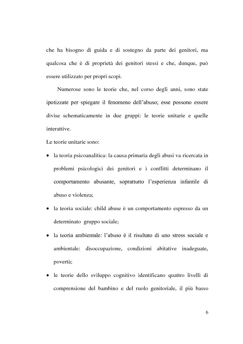 Anteprima della tesi: Maltrattamento e abuso sui minori, Pagina 6