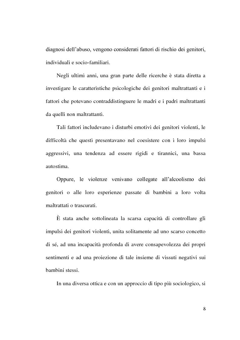 Anteprima della tesi: Maltrattamento e abuso sui minori, Pagina 8
