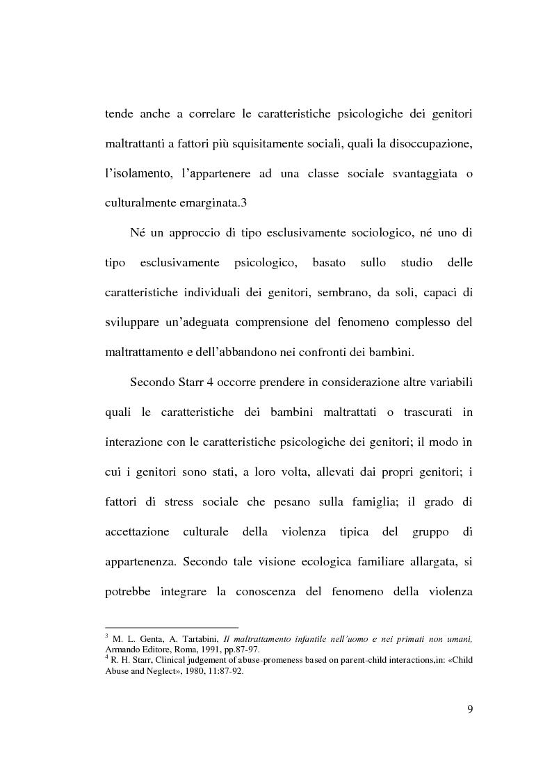Anteprima della tesi: Maltrattamento e abuso sui minori, Pagina 9