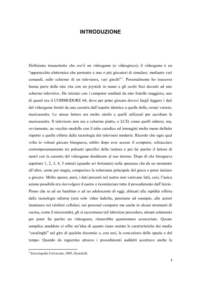 Anteprima della tesi: Il consumo femminile di videogame. Analisi di esperienze videoludiche di un gruppo di videogiocatrici venete., Pagina 1