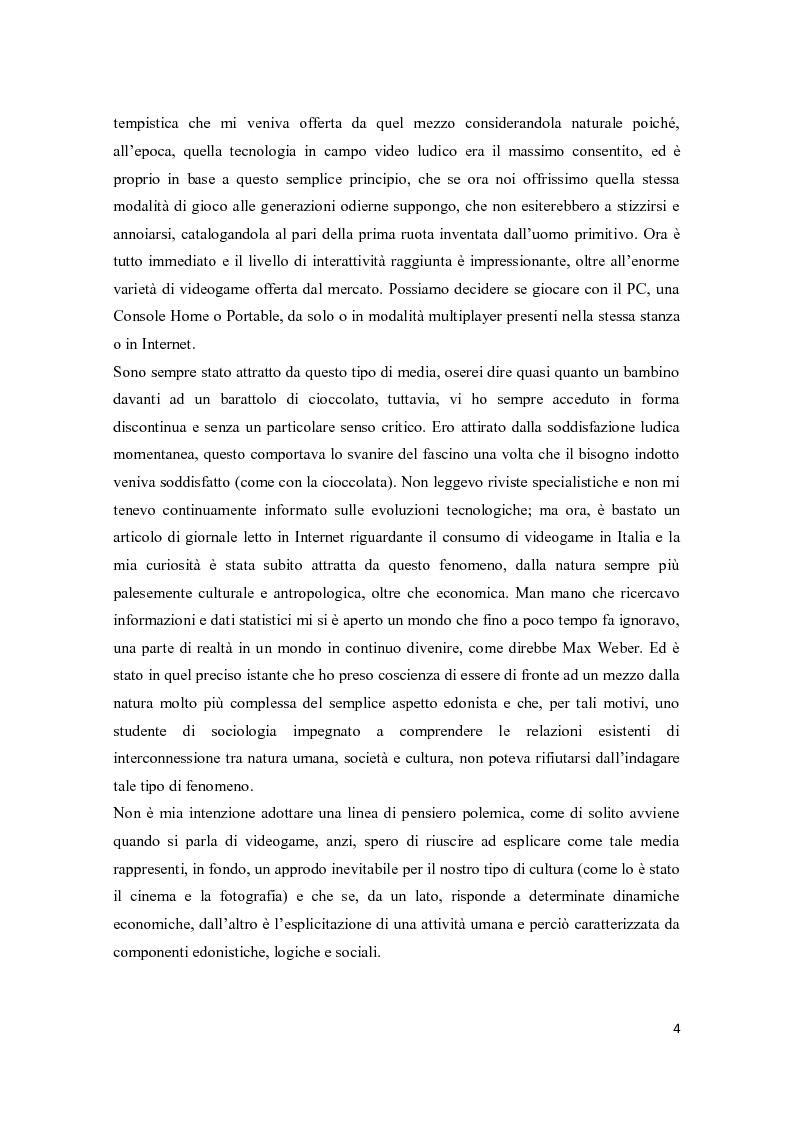 Anteprima della tesi: Il consumo femminile di videogame. Analisi di esperienze videoludiche di un gruppo di videogiocatrici venete., Pagina 2