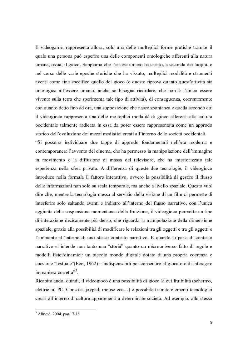 Anteprima della tesi: Il consumo femminile di videogame. Analisi di esperienze videoludiche di un gruppo di videogiocatrici venete., Pagina 7