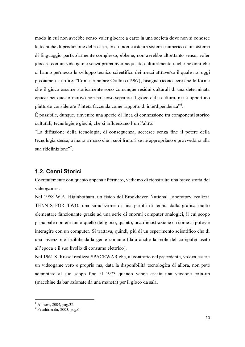 Anteprima della tesi: Il consumo femminile di videogame. Analisi di esperienze videoludiche di un gruppo di videogiocatrici venete., Pagina 8