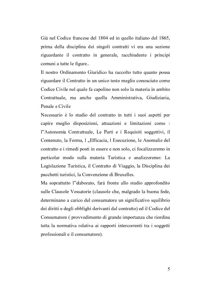Anteprima della tesi: Le clausole vessatorie presenti nei contratti di viaggio, Pagina 2