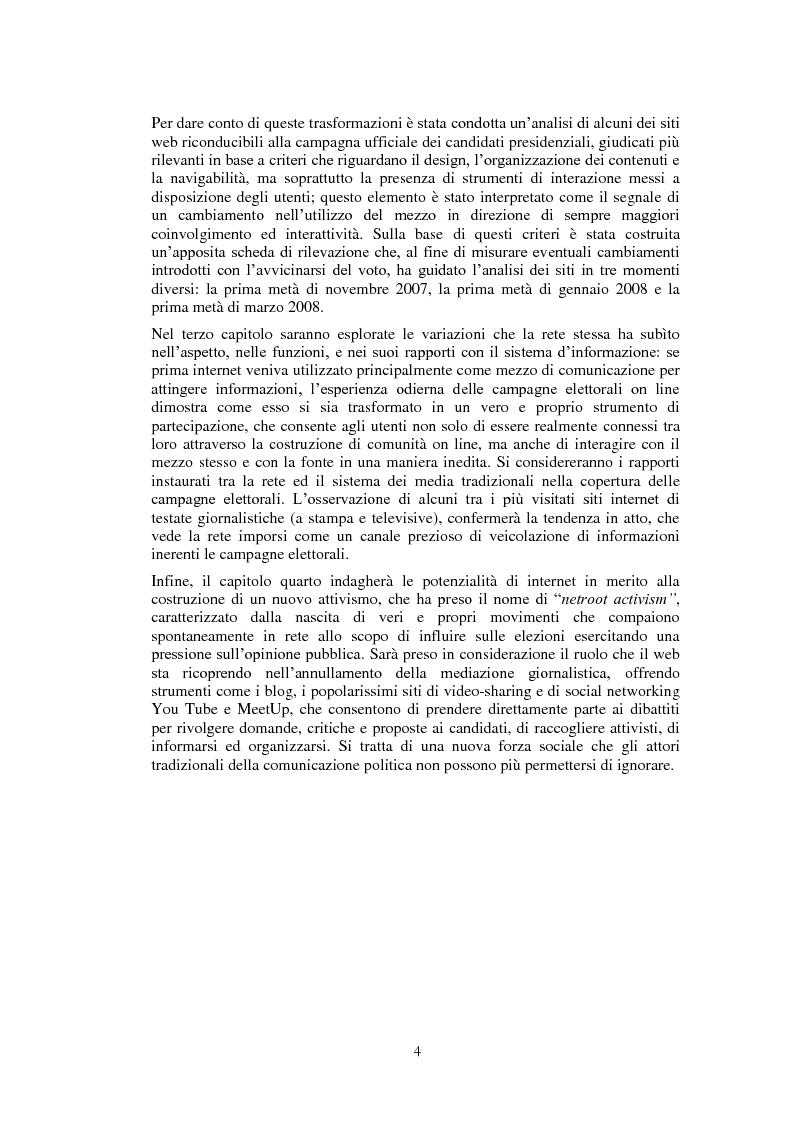Anteprima della tesi: Il ruolo di Internet nella campagna elettorale per le elezioni presidenziali americane del 2008, Pagina 2