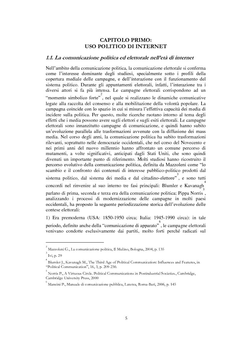 Anteprima della tesi: Il ruolo di Internet nella campagna elettorale per le elezioni presidenziali americane del 2008, Pagina 3
