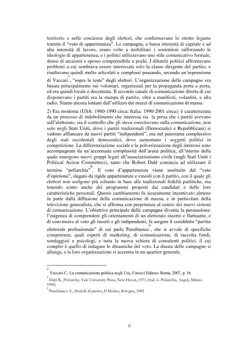 Anteprima della tesi: Il ruolo di Internet nella campagna elettorale per le elezioni presidenziali americane del 2008, Pagina 4