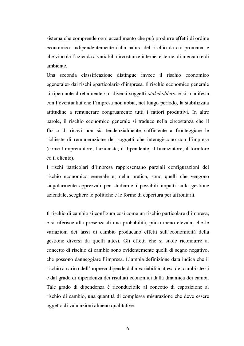 Anteprima della tesi: Il rischio di cambio: strumenti di gestione e hedge accounting, Pagina 2