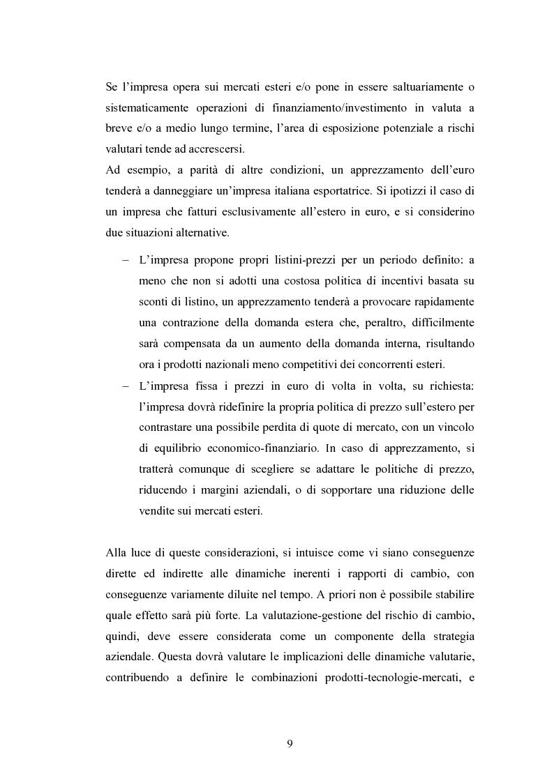Anteprima della tesi: Il rischio di cambio: strumenti di gestione e hedge accounting, Pagina 5