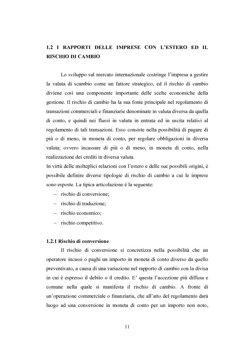Anteprima della tesi: Il rischio di cambio: strumenti di gestione e hedge accounting, Pagina 7