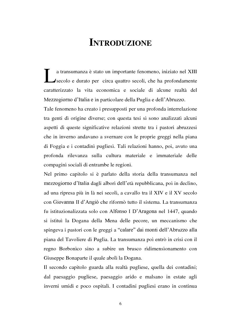 Anteprima della tesi: La cultura pastorale tra Puglia e Abruzzo, Pagina 1