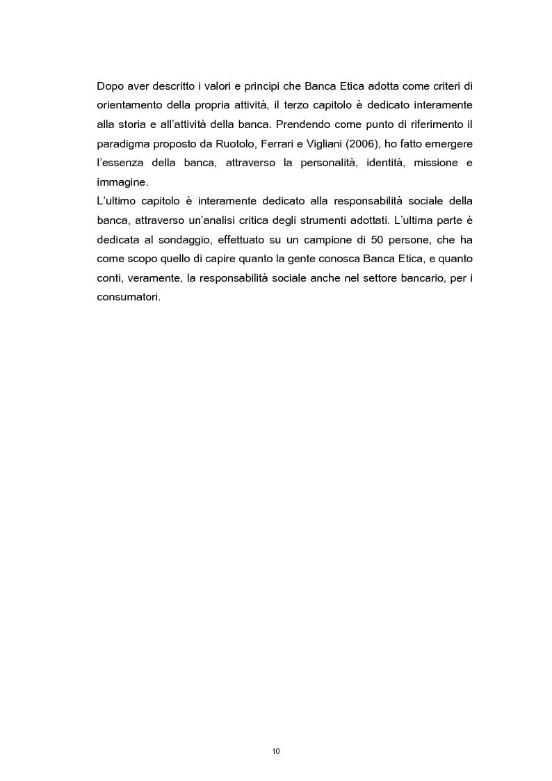 Anteprima della tesi: La Responsabilità Sociale nel settore bancario. Il caso Banca Etica., Pagina 6