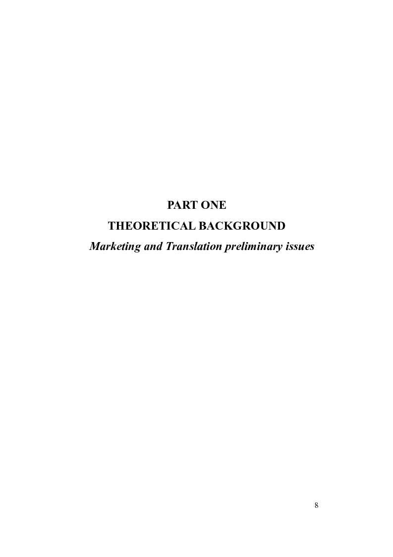 Anteprima della tesi: Language functions and intercultural translation in the world of advertising: the case of wine marketing, Pagina 4