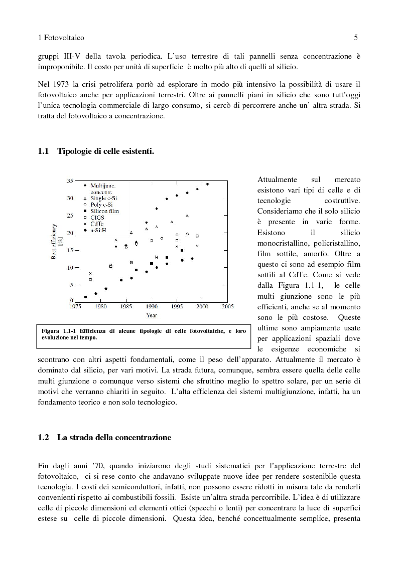 Anteprima della tesi: Fotovoltaico a concentrazione: misure di efficienza, Pagina 2