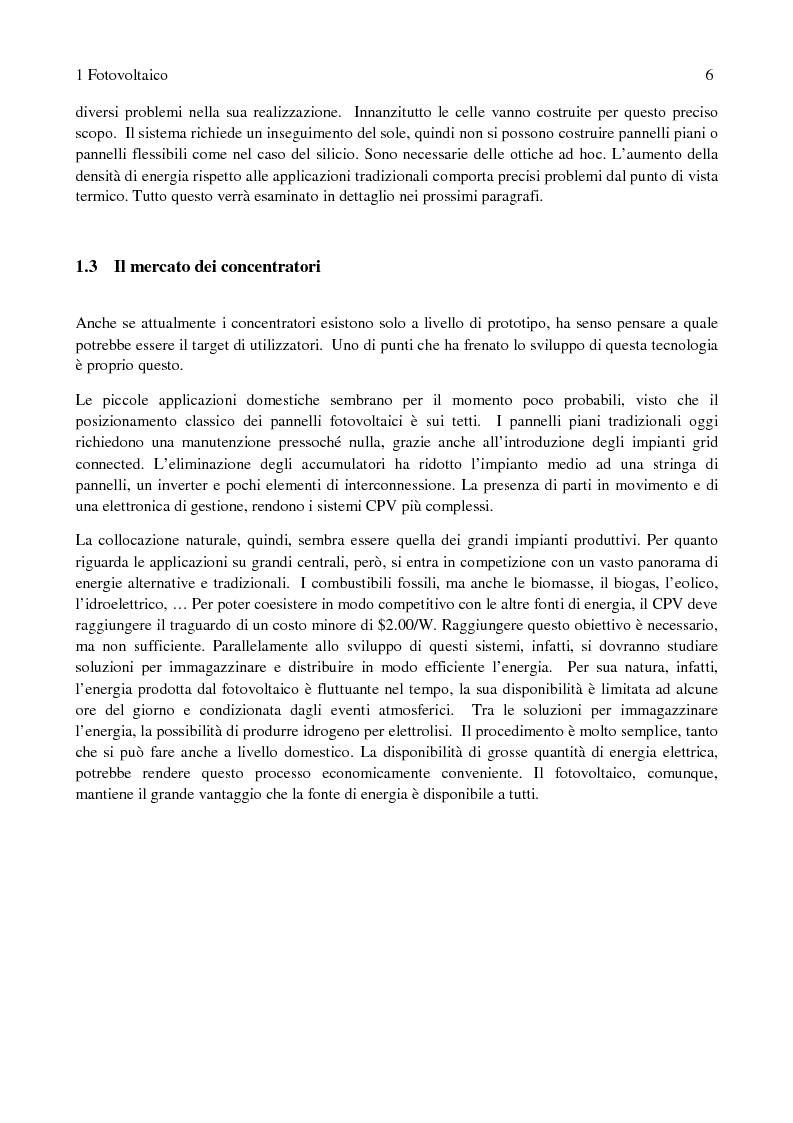 Anteprima della tesi: Fotovoltaico a concentrazione: misure di efficienza, Pagina 3