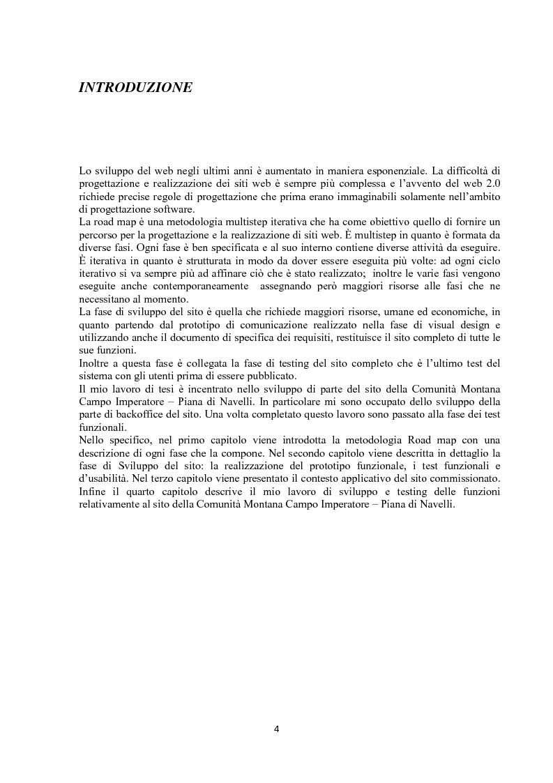 Anteprima della tesi: Sviluppo siti web: verifica e convalida, Pagina 1