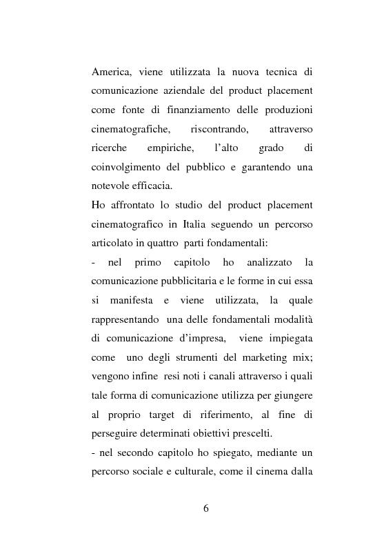 Anteprima della tesi: La strategia di Product Placement al cinema, Pagina 3