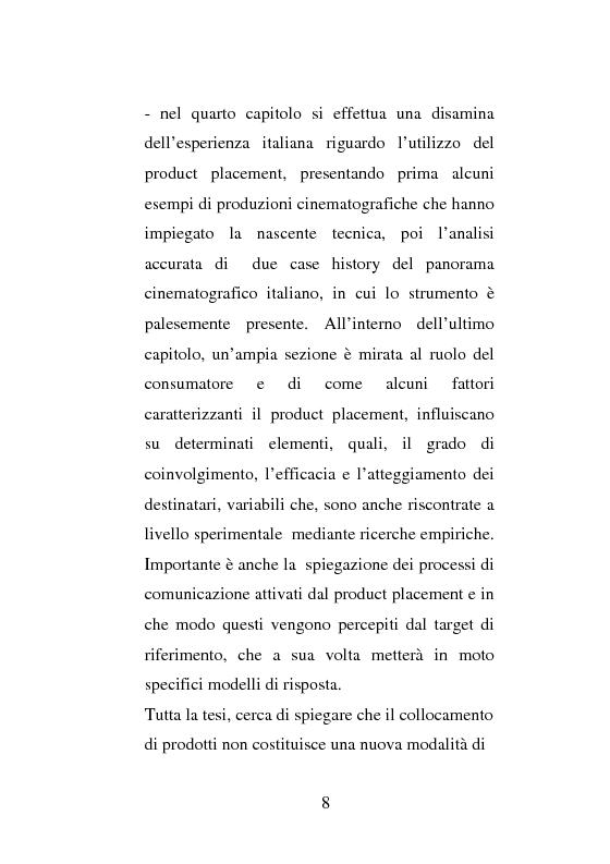 Anteprima della tesi: La strategia di Product Placement al cinema, Pagina 5