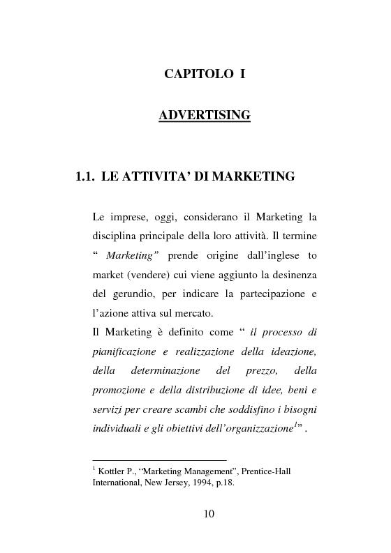 Anteprima della tesi: La strategia di Product Placement al cinema, Pagina 7
