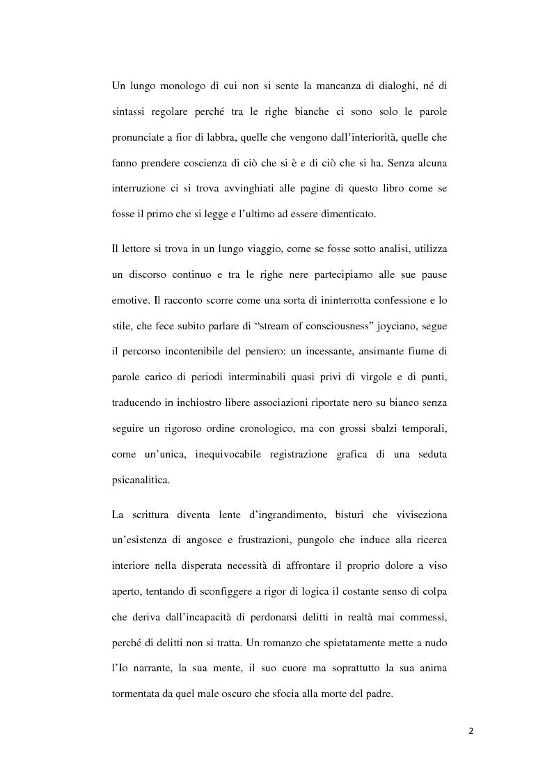Anteprima della tesi: ''Il Male Oscuro'' di Giuseppe Berto, Pagina 2