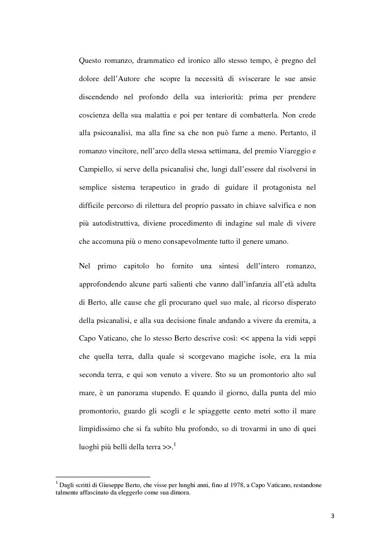 Anteprima della tesi: ''Il Male Oscuro'' di Giuseppe Berto, Pagina 3