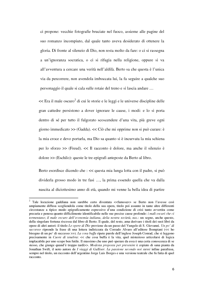 Anteprima della tesi: ''Il Male Oscuro'' di Giuseppe Berto, Pagina 6
