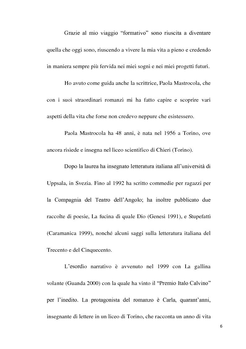 Anteprima della tesi: Scuola e società oggi nei romanzi di Paola Mastrocola, Pagina 3