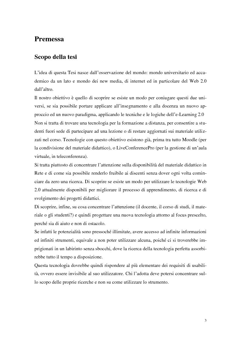 Anteprima della tesi: Strumenti Web 2.0 a supporto della didattica: un caso studio, Pagina 1