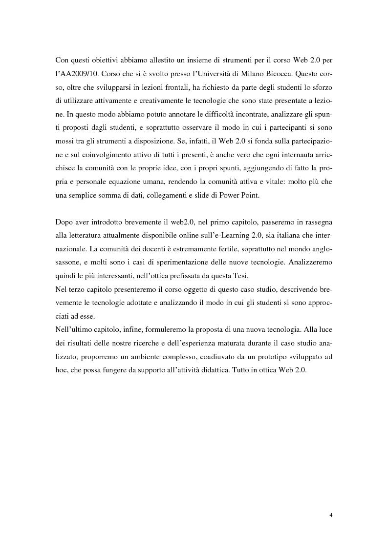 Anteprima della tesi: Strumenti Web 2.0 a supporto della didattica: un caso studio, Pagina 2