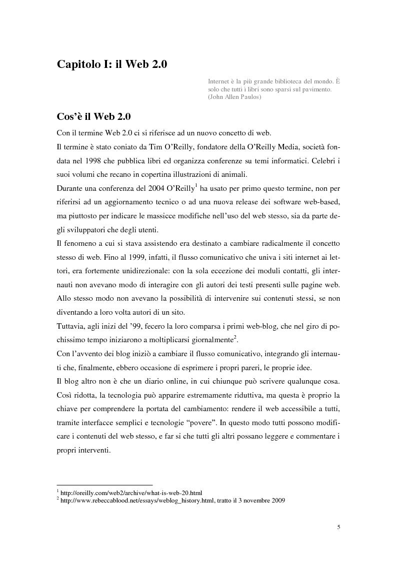 Anteprima della tesi: Strumenti Web 2.0 a supporto della didattica: un caso studio, Pagina 3