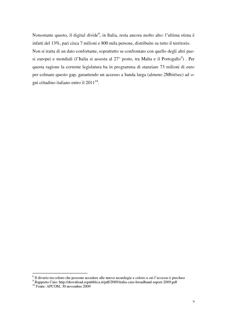 Anteprima della tesi: Strumenti Web 2.0 a supporto della didattica: un caso studio, Pagina 7
