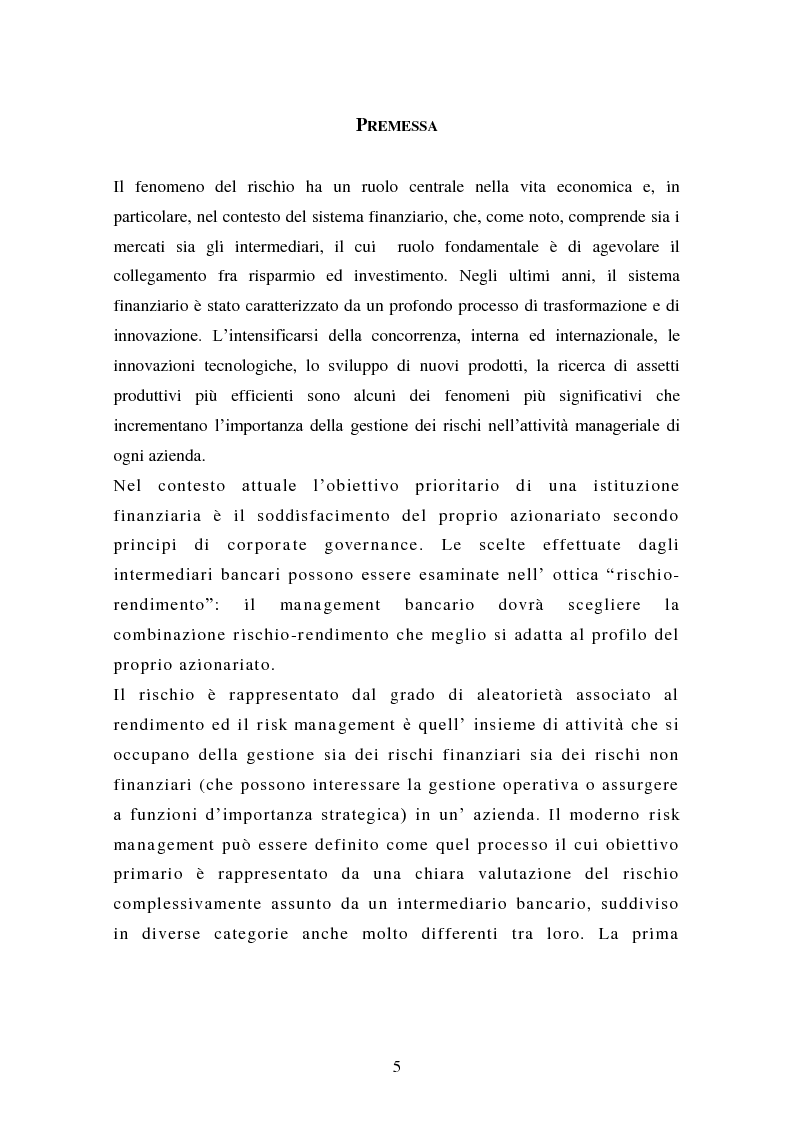Anteprima della tesi: Alcune tipologie di derivati creditizi per la gestione del rischio di credito, Pagina 1