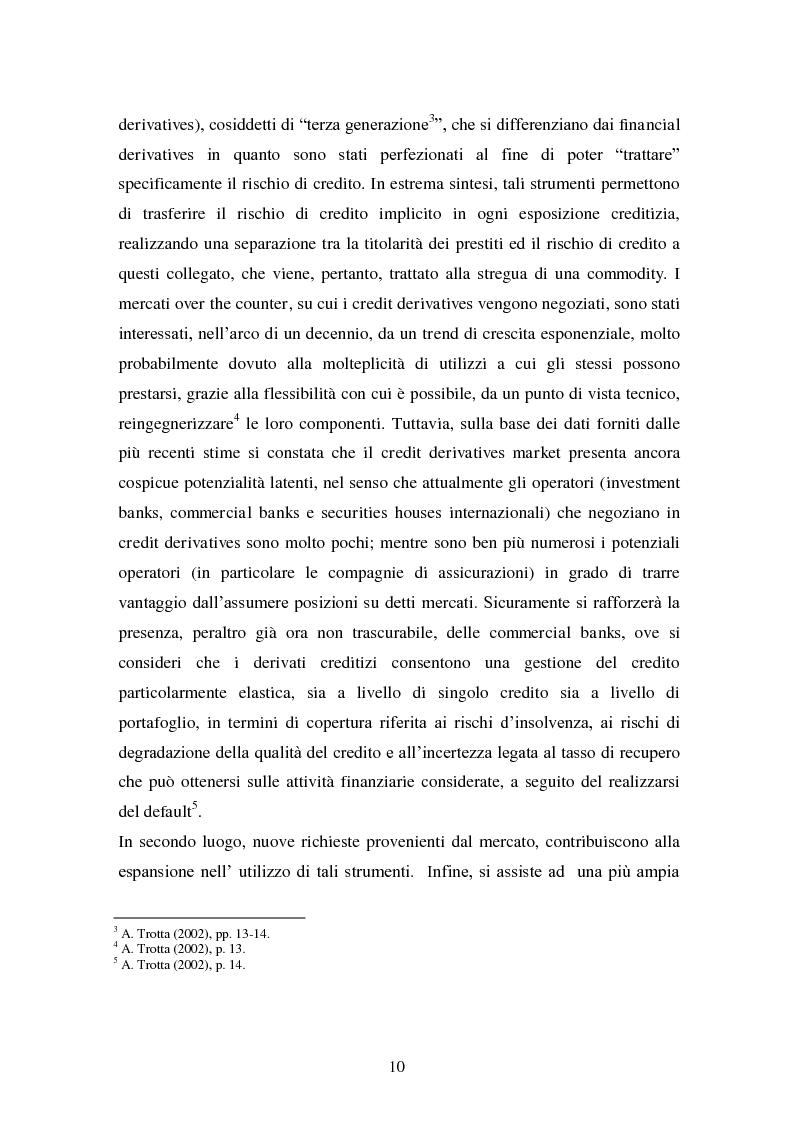 Anteprima della tesi: Alcune tipologie di derivati creditizi per la gestione del rischio di credito, Pagina 6