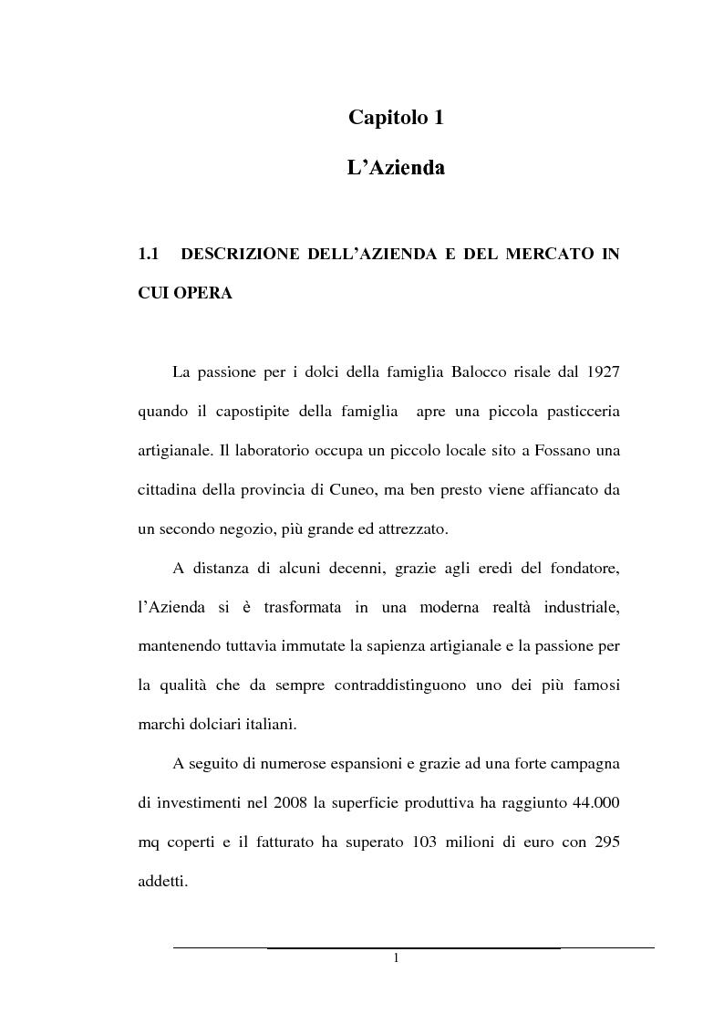 Anteprima della tesi: Impatto dei volumi di vendita sulla distribuzione aziendale: il caso Balocco S.p.A., Pagina 4