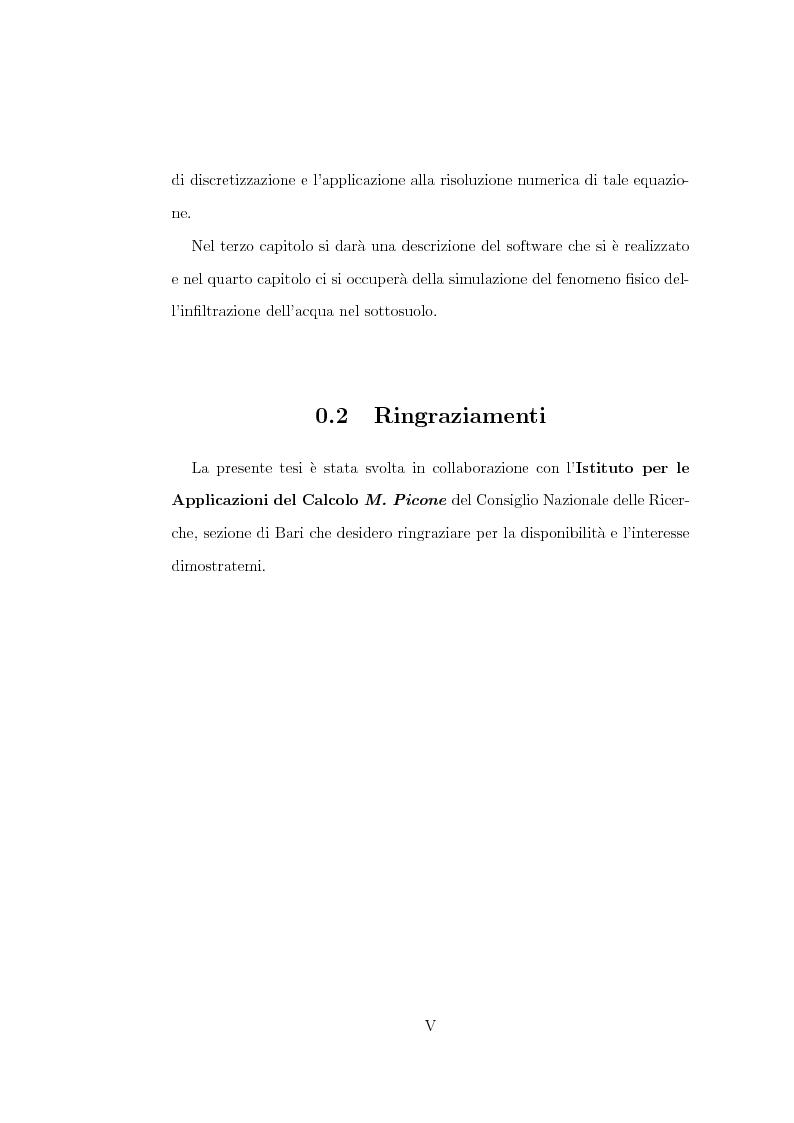 Anteprima della tesi: Risoluzione numerica dell'equazione di Richard per il moto di un fluido nel sottosuolo, Pagina 3