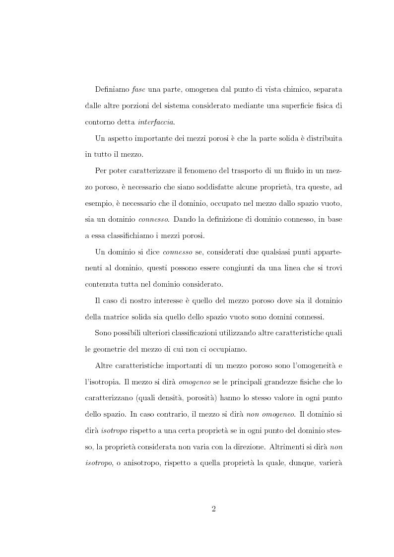 Anteprima della tesi: Risoluzione numerica dell'equazione di Richard per il moto di un fluido nel sottosuolo, Pagina 5