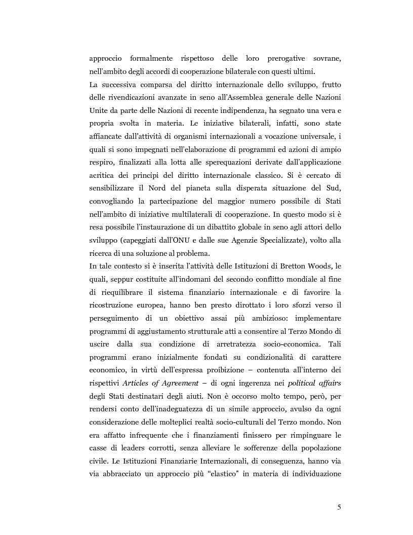 Anteprima della tesi: Nuove prospettive in materia di diritto dello sviluppo in Africa: le clausole di condizionalità politica nella prassi delle IFIs e dell'UE a confronto, Pagina 2